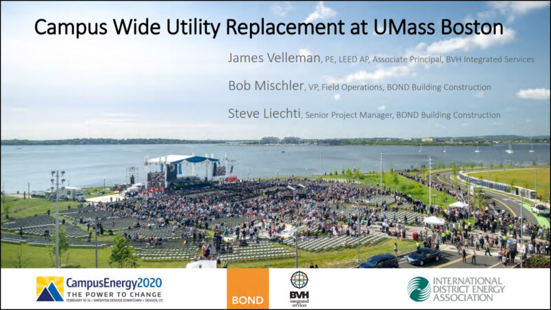 Header Slide with Border from IDEA 2020 Conference with photo of UMass Boston UCRR project site